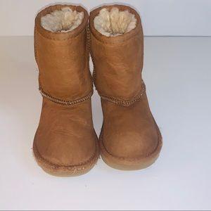 UGG Australia Kids Sheepskin Boots Brown Sz US 9